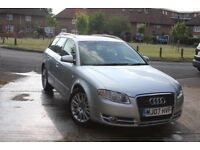 2007 AUDI A4 2.0 SE ESTATE AUTOMATIC 5dr, MOT TILL JUNE 2018