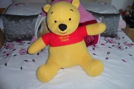 Large Talking Winnie the Pooh Plush / Soft Toy