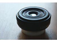 Fujifilm XF 27mm f2.8 pancake lens in black