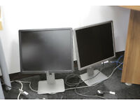"2 x 19"" Dell Computer Monitors"