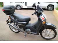 Branson BS 125 Motor Bike only 177 miles from new, 12 months MOT, new battery.