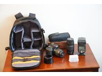 Canon 750D + 2 lenses + flash + bag bundle £549 ONO