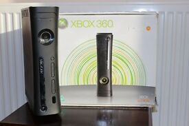 exbox 360 120gb hdd with games