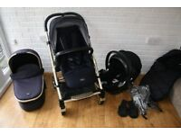 Mamas and Papas Urbo 2 Twilight Gold pram pushchair + Cybex car seat 3 in 1 CAN POST