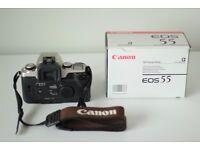 Canon EOS 55 SLR 35mm Film Camera Body In Perfect Condition