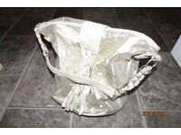 Gold finish bag with tassle & plait detail. Great condition. Decent size.