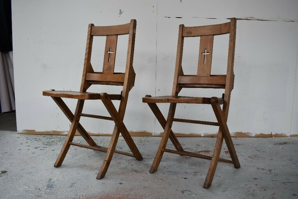 Vintage wooden antique church chairs - Vintage Wooden Antique Church Chairs In Salford, Manchester Gumtree