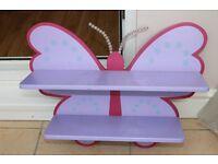 Beautiful Butterfly Shelves x 2(1 new)