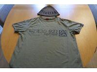 Firetrap Medium Khaki T Shirt and Beanie Hat
