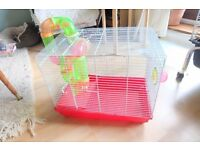 Fun Wire and Plastic Hamster cage with platform and tubes