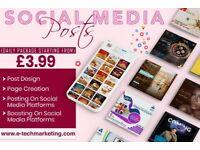 Social Media & Digital Marketing Starting From £3.99. Website, Logo, Business Card, Leaflet, Menu