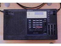 Sony ICF 2001 FM-AM PLL Synthesizer receiver