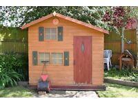 Wooden children's playhouse