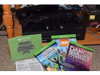 Microsoft Xbox One with Kinect 500 GB Black Console + 2x Controller + some games