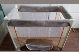 Good condition almost new small travel cot