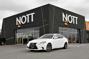 2014 Lexus IS 350 F-Sport, Red Leather Seats, Sunroof, All-Wheel