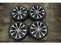 17 inch black and silver diamond alloy wheels 4 stud