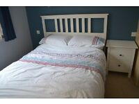 Ikea Hemnes Double Bed with Hovag mattress