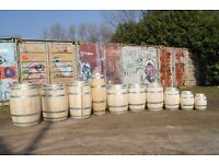 Wine barrel beer whiskey cider oak patio planters flower pots pub table garden planters wedding