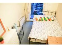 Double room with balcony in Shoreditch in Central London.