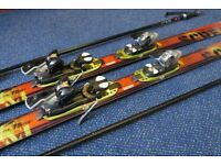 Solomon Spaceframe Scream 175 Skis & Bindings with Poles