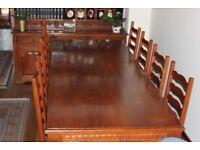 Beautiful Oak stained teak Table