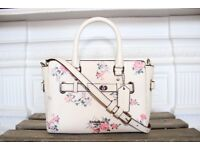 BRAND NEW Coach Mini Blake Carryall with Cross Stitch Floral Chalk Pink Crossbody Leather Designer