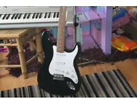 I HAVE A POWER PLAY BLACK & WHITE STRAT STYLE GUITAR.