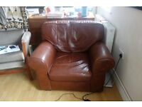 Comfy leather armchair £25 -- pick up in Bedminster