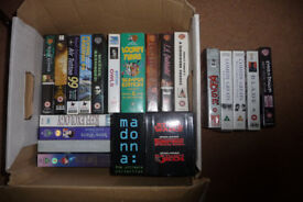 Assorted VHS video films for collection only.