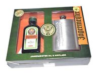 JAGERMEISTER HIP FLASK GIFT SET WITH 4cl JAGERMEISTER