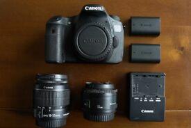 Canon EOS 60D 18.0MP Digital SLR Camera - Black (Kit w/ EFS 18-55mm & 50mm Lens)