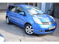 2008 NISSAN NOTE TEKNA AUTO 1.6 LOW MILEAGE*BLUETOOTH*HALF LEATHER*PARKING AID*AUTO LIGHTS & WIPERS