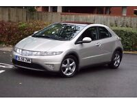 56 PLATE HONDA CIVIC ES I CTDI 2.2 DIESEL*PSH*3 MONTHS WARRANTY*BREAKDOWN COVER*PANORAMIC ROOF*