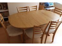 DINING TABLE & CHAIRS 6 BY ERCOL (MANTUA)