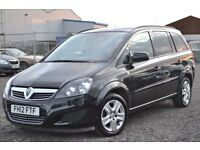 2012 VAUXHALL ZAFIRA EXCLUSIVE 16 VVTI - 53 000 MILES FRONT + REAR SENSORS STUNNING PEOPLE CARRIER