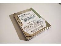 """80GB Toshiba SATA 2.5"""" hard drive"""