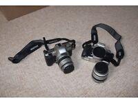 Pentax MZ30 Film Camera with Pentax 18 - 55mm lenses x2