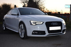 Audi A5 Coupe S Line 2.0 TDi 177Ps 2013 White
