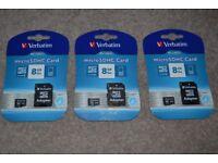 3 x Micro SDHC Card 8 GB & adapter £5 each