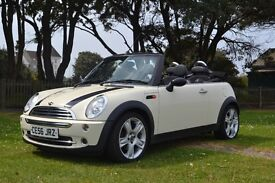 Mini Cooper Convertible 2006, Pepper White, Half Leather, Heated Seats, MOT 02/18