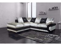 Fastest Delivery- Get it Now - Brand New Dino Crush Velvet Corner Sofa or 2+3 Seater , Amazing offer