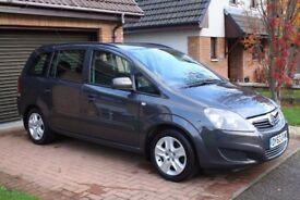 2013/63 plate Vauxhall Zafira 1.6. FSH, Recent full service, MOT and valet. Only 33k miles!