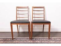 Pair of mid-century Mcintosh chairs, newly upholstered
