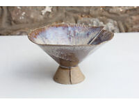 Unusual Handmade Art Pottery Vase / Bowl Culross Pottery Scotland Studio Pottery Sweet Dish
