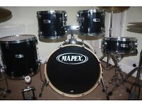 """Mapex V Series Black 5 Piece Drum Kit (22"""" Bass) - DRUMS ONLY"""