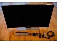 Samsung 55 inch curved ultra HD TV 55hu8500 with video pack