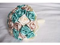 OFFERS WELCOME - Handmade Satin Flower Bouquet - CUSTOM ORDERS ACCEPTED
