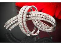 Preiswert Kaufen Brillantbrosche Diamantbrosche 18kt 750 Gold Mit Brillanten Diamanten . Uhren & Schmuck Unikate & Goldschmiedearbeiten