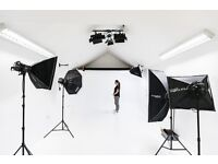black and white photo / video studios for hire £40 for 2 hours